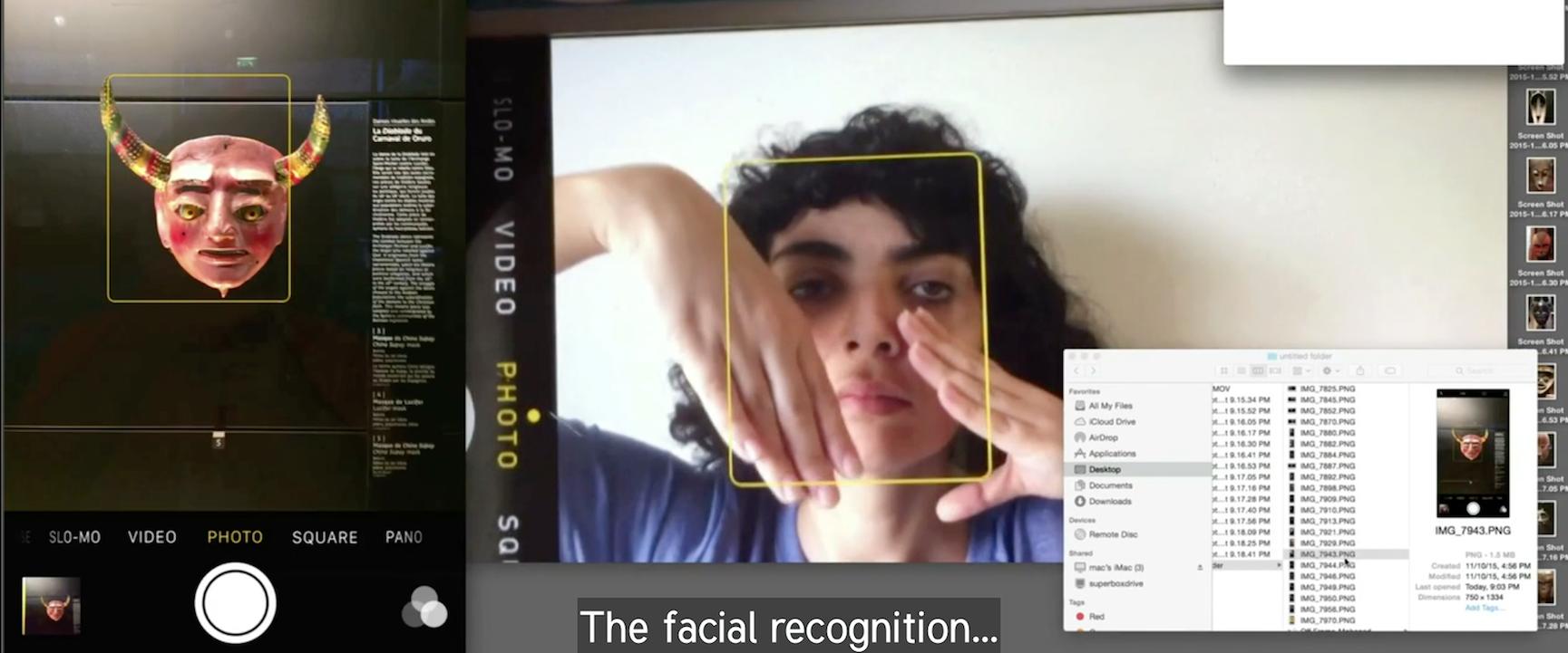 A video still from Spotlights: Yazan Khalili