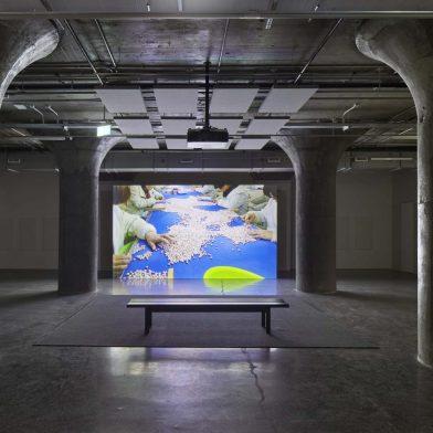 "Mika Rottenberg, ""Spaghetti Blockchain"" (installation views), MOCA Toronto, 2020–2021. Courtesy the artist and Hauser & Wirth. Photos by Tom Arban Inc."