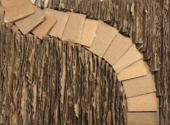 Cardboard Landscape Inspired by the Work of Carlos Bunga